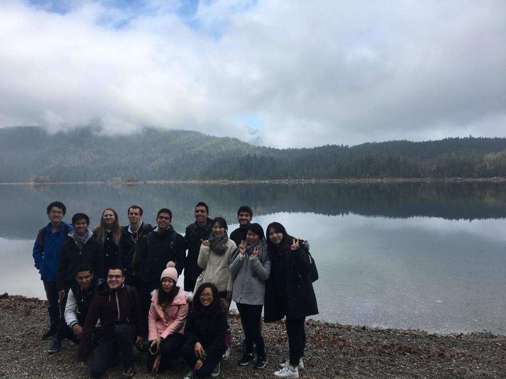 Eibsee with International Students - Ha Nguyen - Winter Exchange Sem of AY 2018-2019