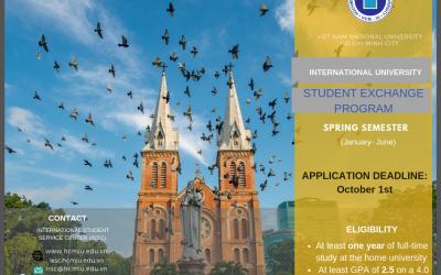 Call for Application: Spring Semester Exchange at IU-VNU AY 2019/20