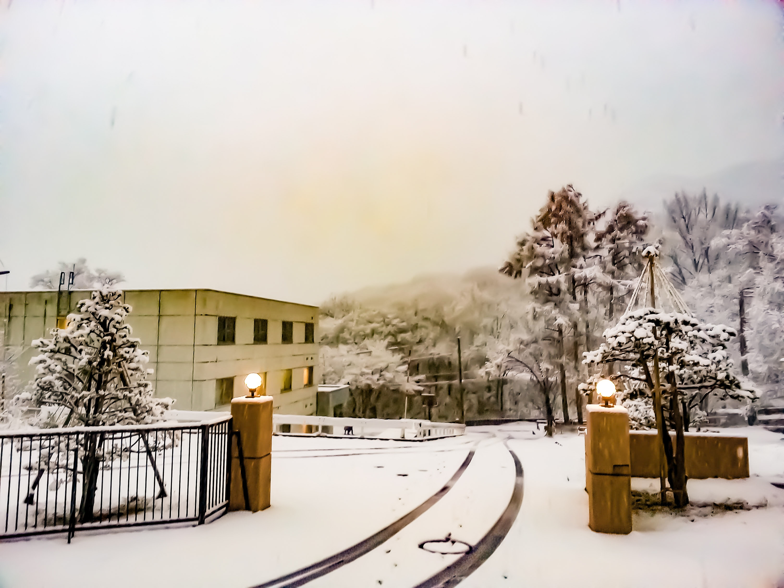 My Dorm in The Snow - Lan Pham - Fall Exchange Sem of AY 2017-2018