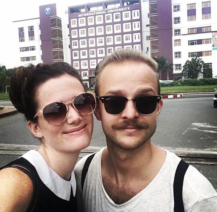 Nice couple on exchange at IU