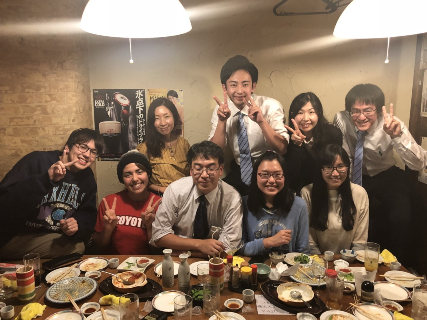 Welcome Dinner with International Friends at OUC - Lan Pham - Fall Exchange Sem of AY 2017-2018