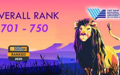 2020 QS World University Rankings: VNUHCM was ranked 701st – 750th