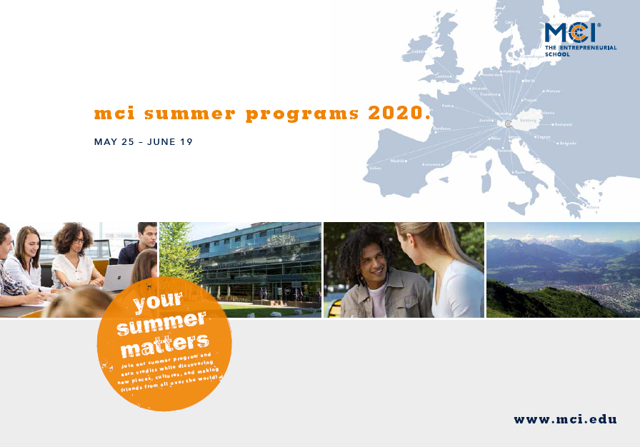 MCI SUMMER PROGRAM 2020 – AUSTRIA