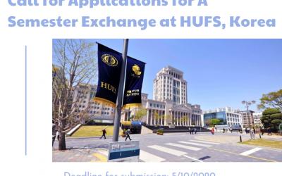 STUDENT EXCHANGE PROGRAM IN SPRING SEMESTER AT HANKUK UNIVERSITY OF FOREIGN STUDIES (HUFS), KOREA