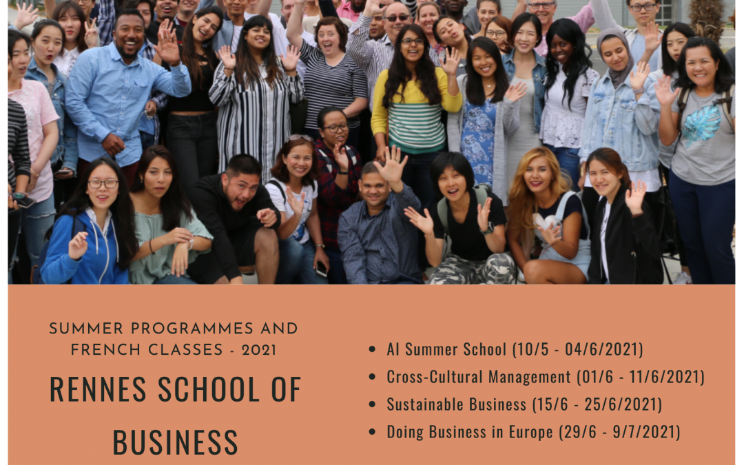 SUMMER PROGRAMMES 2021 AT RENNES SCHOOL OF BUSINESS, FRANCE