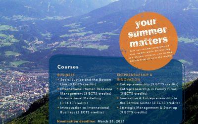 MCI ONLINE SUMMER PROGRAM 2021 AT MCI MANAGEMENT CENTER INNSBRUCK, AUSTRIA